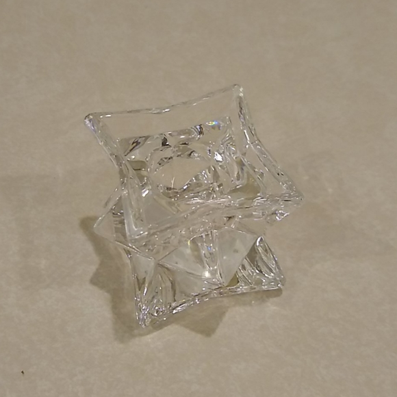 24% Lead Crystal Candle Holder